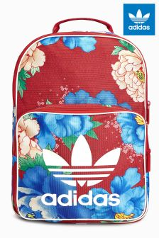 adidas Originals Red/Blue Floral Backpack