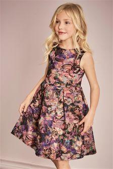 Metallic Jacquard Prom Dress (3-14yrs)