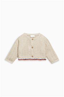 Crochet Trim Cardigan (0mths-2yrs)