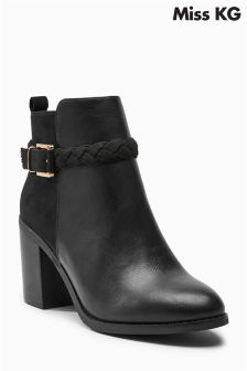 Miss KG Swift Black Buckled Ankle Boot