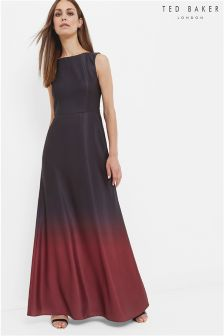 Ted Baker Black Ombre Maxi Dress