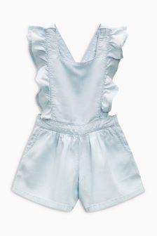Light Wash Ruffle Playsuit (3mths-6yrs)