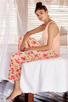 Mink/Pink Floral Pyjamas