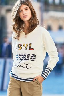 French Graphic Sweat Top