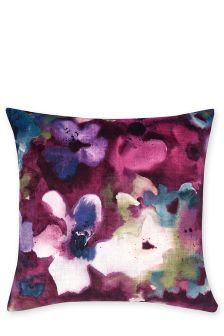 Abstract Velvet Floral Cushion