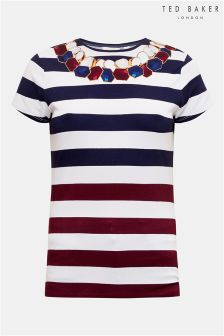 Ted Baker White Kaiaa Stripe Top