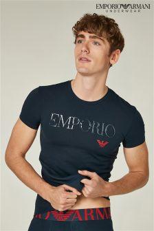 Emporio Armani Navy Mega Logo T-Shirt