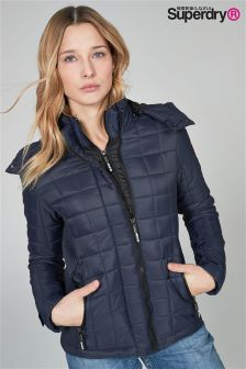 Superdry Navy Box Quilt Jacket