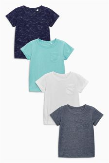 Textured T-Shirts Four Pack (3mths-6yrs)
