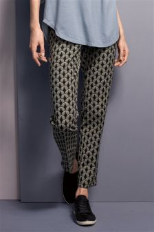 Jacquard Slim Trouser