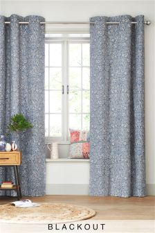 Salisbury Floral Blackout Eyelet Curtains