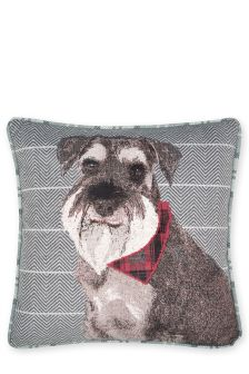 Sam Schnauzer Printed Cushion