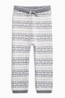 Fairisle Pattern Knitted Leggings (0mths-2yrs)