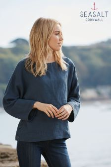 Seasalt Navy Porthgwidden Top