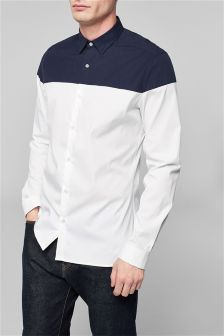 Long Sleeve Cut And Sew Shirt