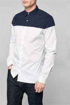 Long Sleeve Cut And Sew Shirt