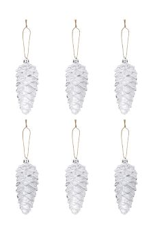 Set Of 6 Pinecone Decorations