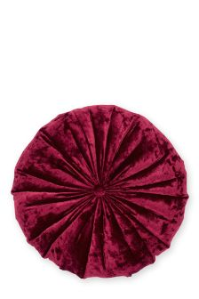 Round Crushed Velvet Cushion