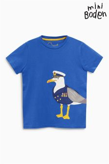 Boden Blue Big Appliqué T-Shirt