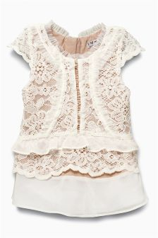 Ruffle Lace Blouse (3-16yrs)