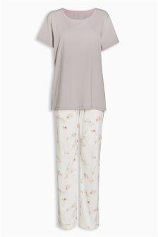 Bird Print Jersey Pyjamas