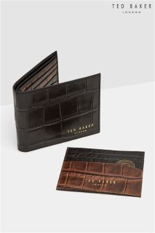 Ted Baker Croc Effect Wallet And Card Holder Gift Set