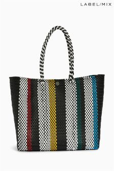 Mix/Zocalo Stripe Hand Woven Medium Bag