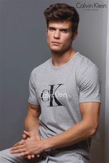 Calvin Klein Grey Crew Neck Logo T-Shirt