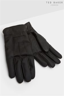 Ted Baker Gloves With Leather Trim Detail
