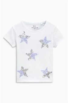 Sequin Star T-Shirt (3-16yrs)