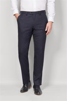 British Wool Suit: Tailored Fit Trousers