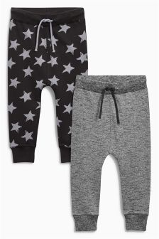 Star Printed Joggers Two Pack (3mths-6yrs)