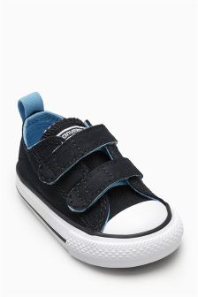 Converse Little Kids Black/Blue Chuck Taylor All Star 2V