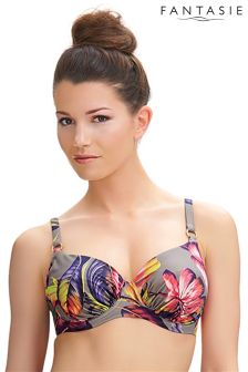 Fantasie Floral Kuramathi Underwire Gathered Full Cup Bikini