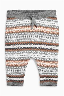 Fairisle Pattern Knitted Joggers (0mths-2yrs)