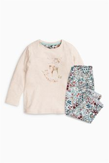 Deer Woven Bottom Pyjamas (9mths-8yrs)
