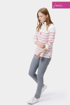 Joules Cowdray Pink Stripe Sweatshirt