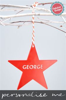 Personalised Star Christmas Tree Decoration By Oakdene