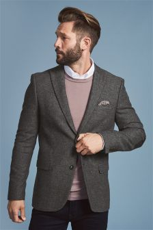 Broken Twill Slim Fit Jacket
