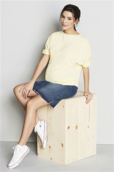 Maternity Twist Sleeve Top