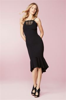 Drop Hem Lace Dress