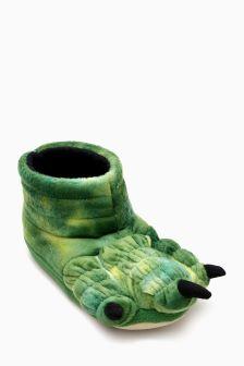 3D Dino Foot Slippers (Older Boys)