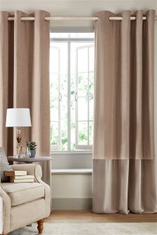 Collection Luxe Velvet Panel Eyelet Curtains