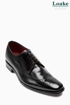 Loake Clint Hi Shine Longwing Black Brogue
