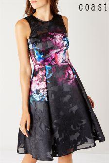 Coast Multi Eton Print Bryni Dress