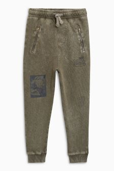 Tapered Leg Drop Crotch Washed Joggers (3-16yrs)