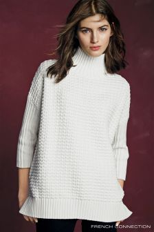 French Connection Winter White Mozart Popcorn Jumper