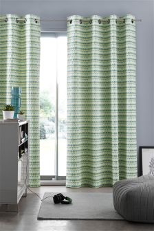 Woven Oval Eyelet Curtains