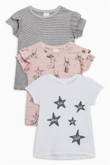 Bunny Short Sleeve T-Shirts Three Pack (3mths-6yrs)
