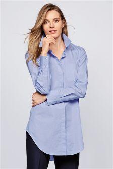 Blue Oversize Formal Shirt